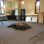 Removing old fixtures from the church