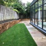 Grass areas next to the conservatory