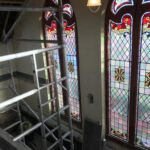 The original stained glass windows